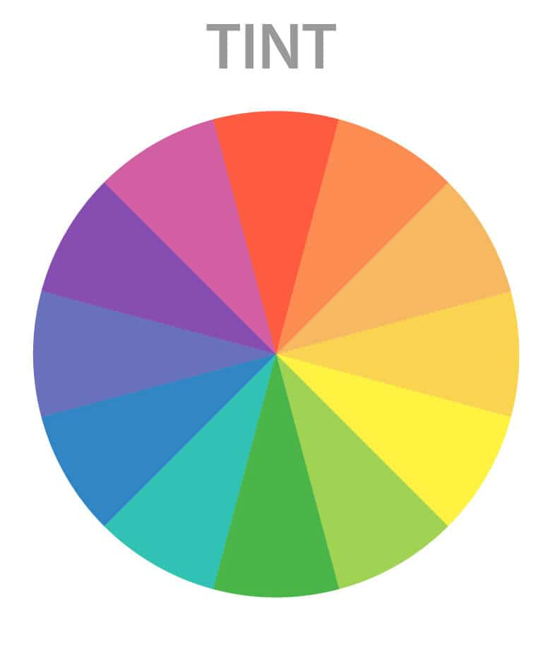 tints in the color wheel for artists