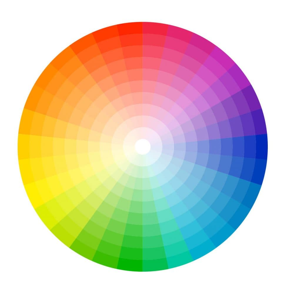color wheel with tints