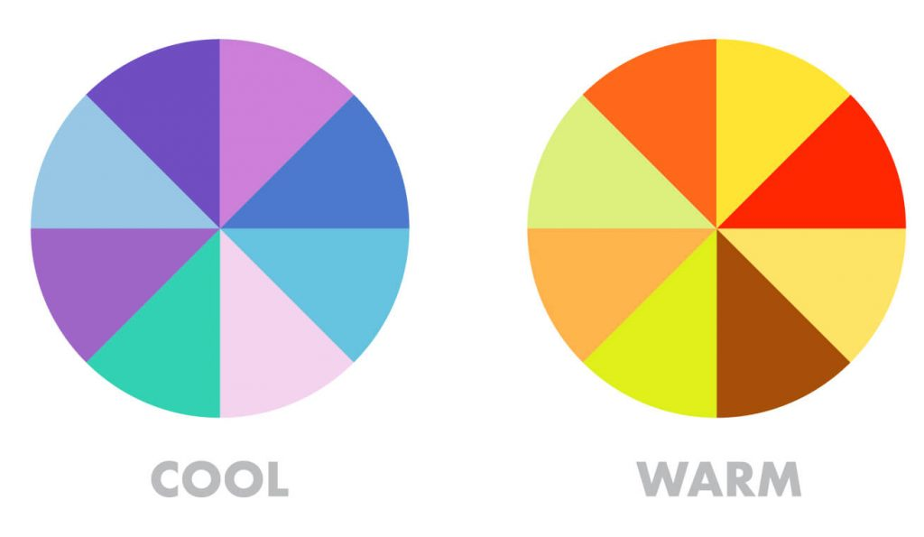 warm and cool colors in color theory for artists