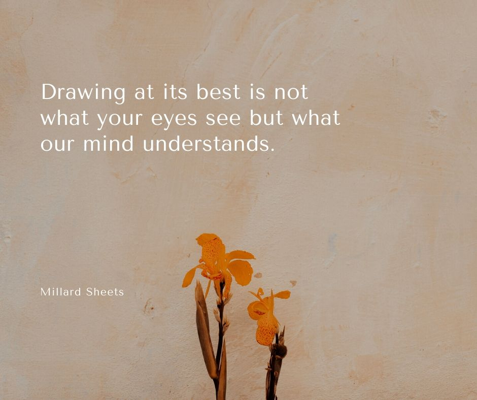 drawing quote by millard sheets