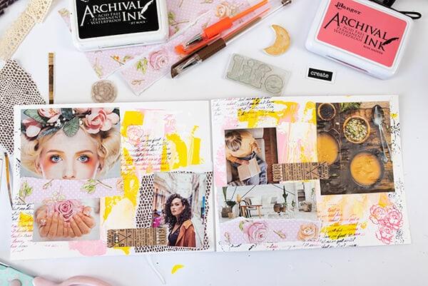 vision board art journal spread