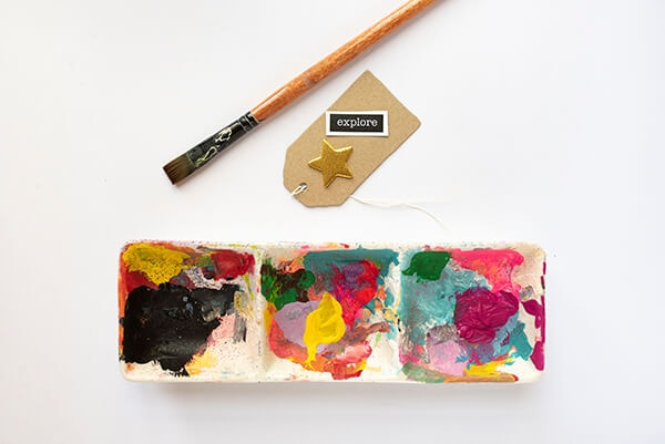 ceramic palette for acrylic paint