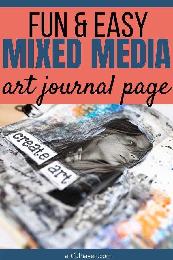 mixed media art journal tutorial
