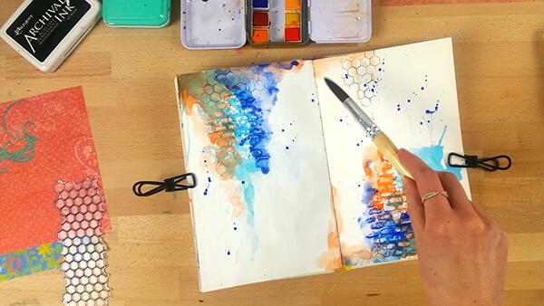 mixed media art journal tutorial step 6