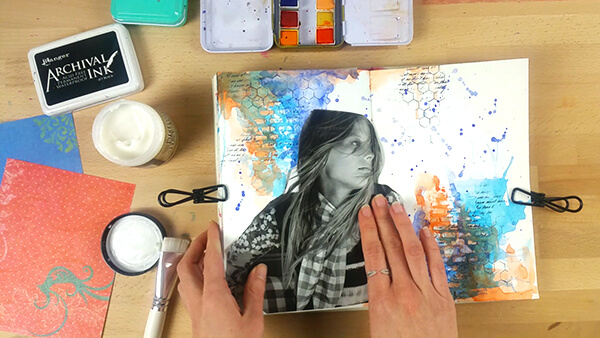 mixed media art journal tutorial step 7