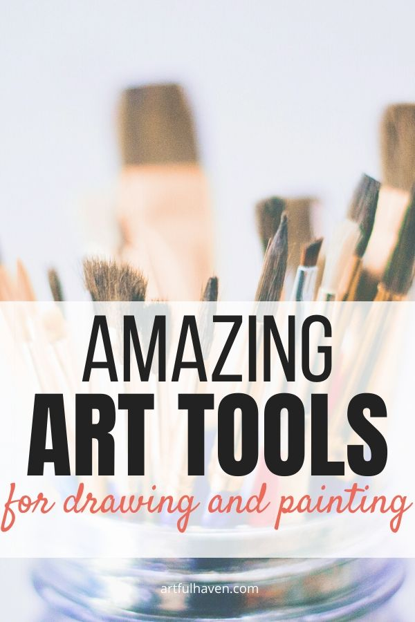 art tools for drawing and painting