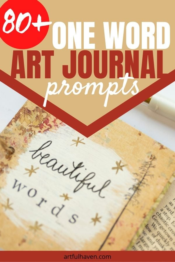 one word art journal prompts