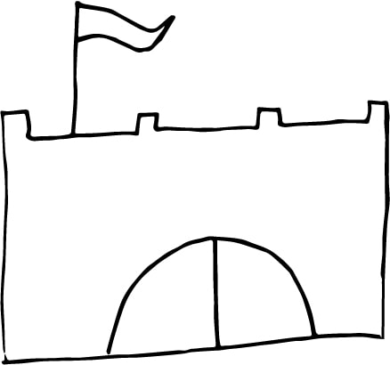 a simple castle drawing