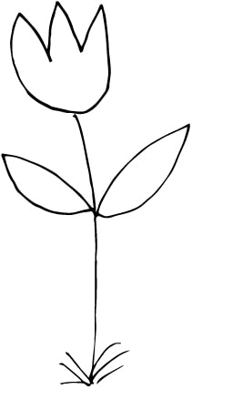 a simple flower doodle