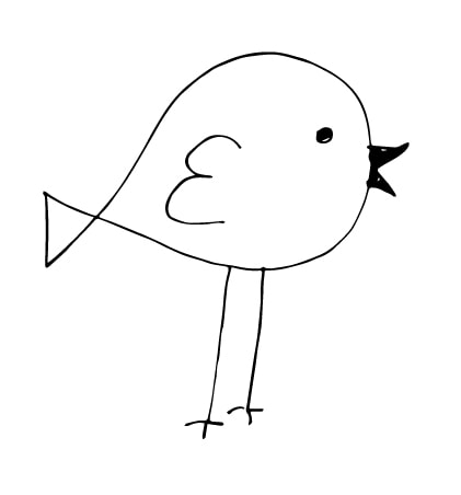 a simple bird drawing