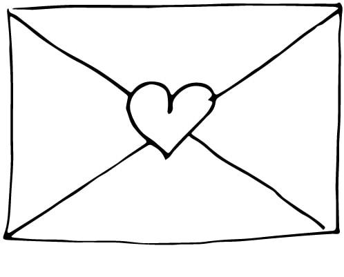 a cute envelope drawing
