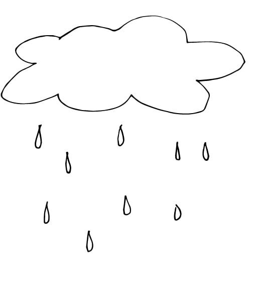cloud and rain drawing
