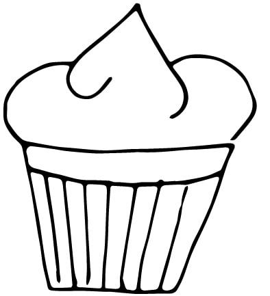 a cupcake drawing