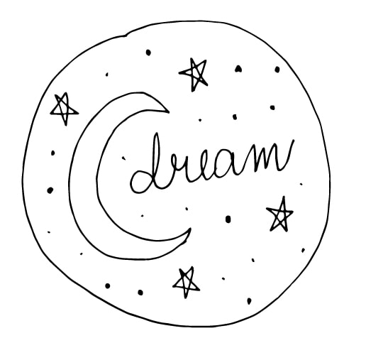 a moon doodle