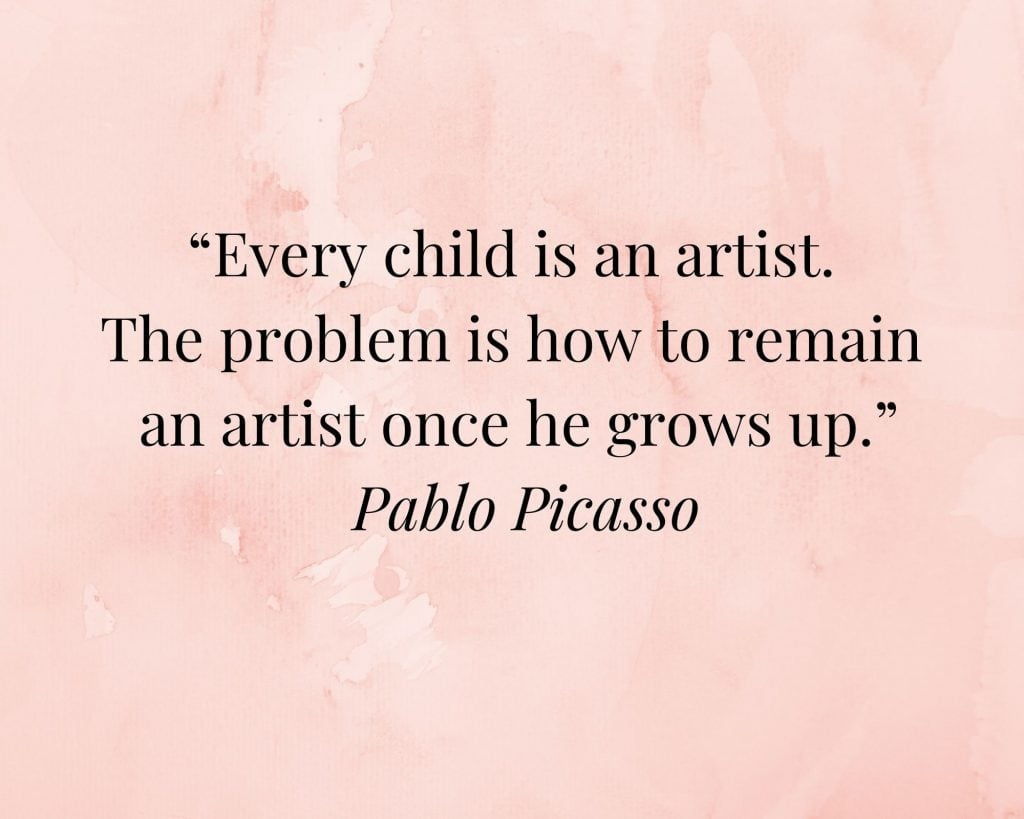 creativity quote by pablo picasso