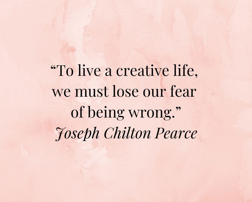 quote on creativity by joseph chilton pearce