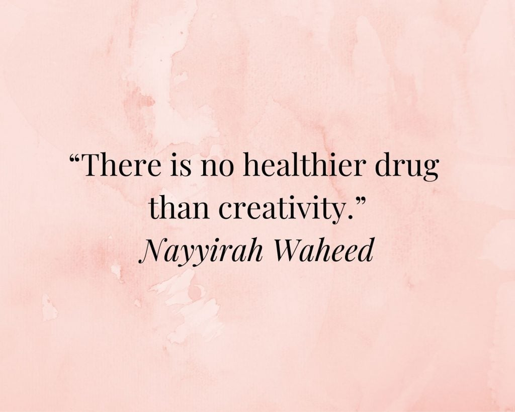 quote on creativity by nayyirah waheed
