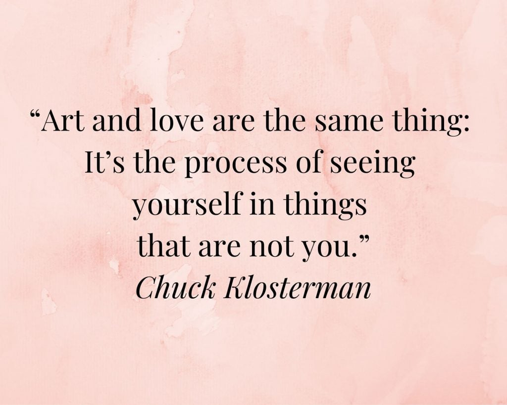 art quote by chuck klosterman