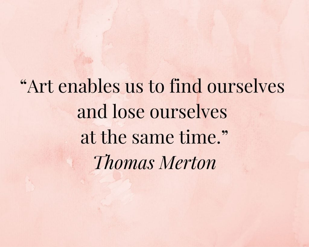 quote on art by thomas merton