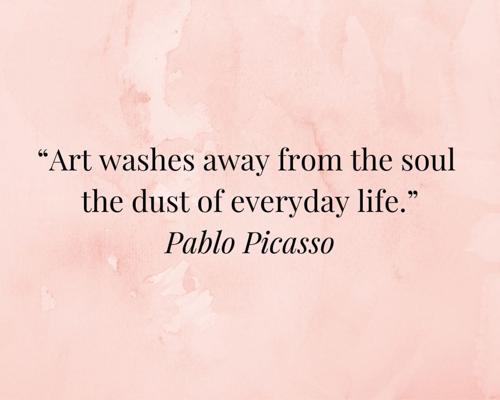 quote on art by pablo picasso