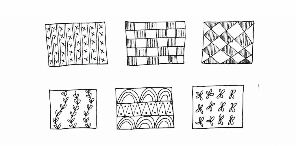 cool patterns within shapes
