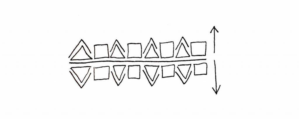 mirrored pattern