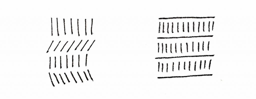 patterns with straight lines