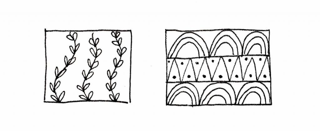 cool patterns with plants