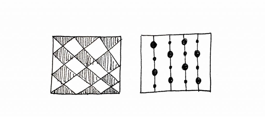 patterns in squares