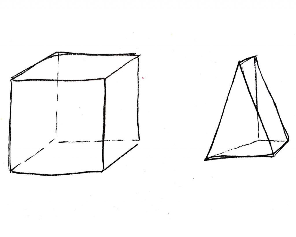 3d shapes drawing exercise