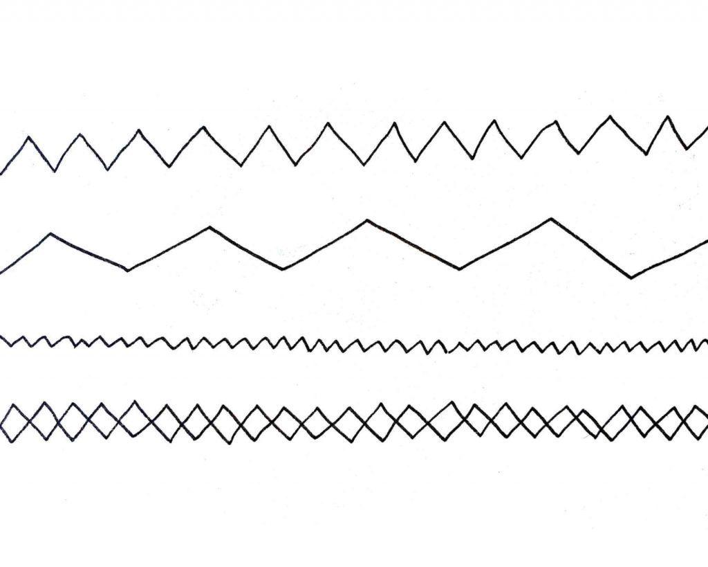 zig zag lines