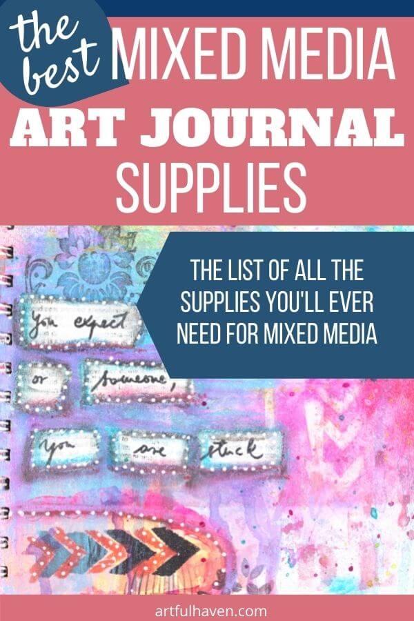 mixed media art journal supplies